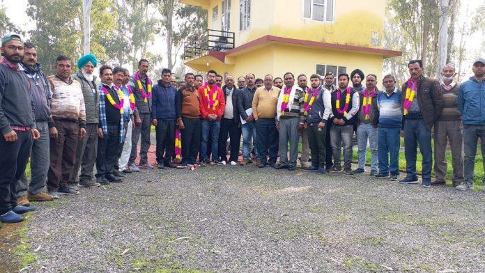 फोटो :हिमाचल प्रदेश राज्य विद्युत कर्मचारी यूनियन यूनिट रैहन के नवनिर्वाचित पदाधिकारी यूनियन राज्य वरिष्ठ उपाध्यक्ष पवन मोहल व अन्य सदस्य सामूहिक रूप में