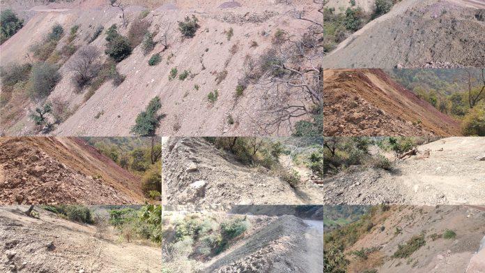 गुनाई-मसुलखाना सड़क चौड़ा करने के लिए वनविभाग से नहीं ली NOC,वन भूमि को बनाया डंपिग साइट