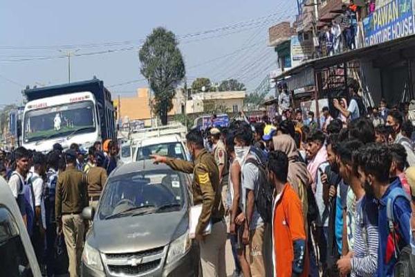 -army-bharti-una-youth-traffic-jam