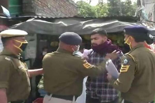 ऊना में मास्क न पहनने पर चालान, पुलिस से उलझ पड़ा युवक