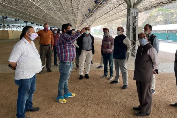 सोलन में कोविड-19 पाॅजिटिव रोगियों के लिए मेकशिफ्ट अस्पताल का निर्माण कार्य अन्तिम चरण में