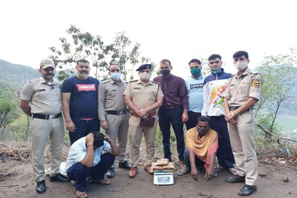 बिलासपुर पुलिस ने ट्रक से पकड़ी 5.24 किलोग्राम अफ़ीम , दो आरोपी गिरफ्तार