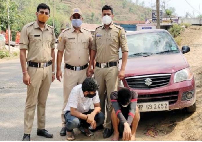 बिलासपुर: एसआईयू टीम की बड़ी कामयाबी, कार सवार 2 युवकों से 140 ग्राम चिट्टा बरामद